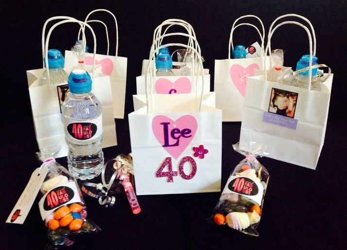 Grown up goodie bags