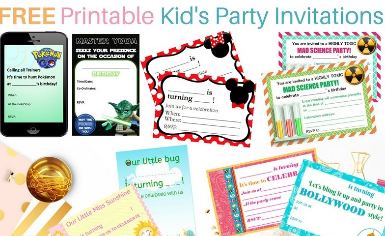 Kids Party Stationery
