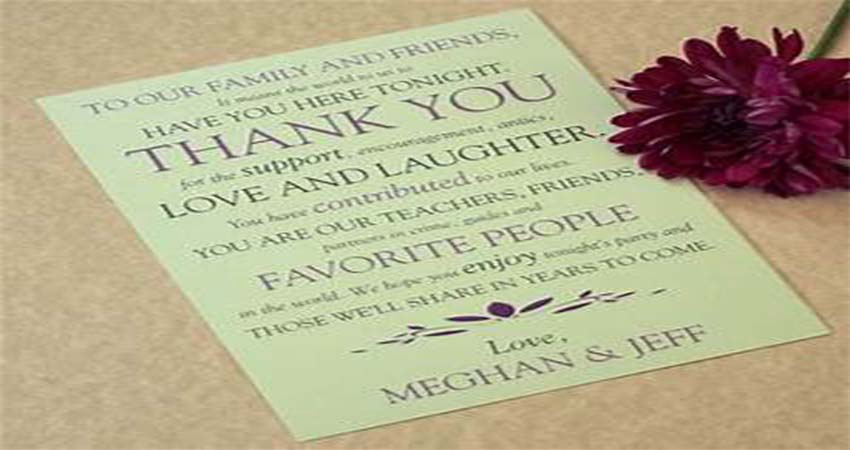 What Is The Importance Of A Thanks Card In A Wedding?
